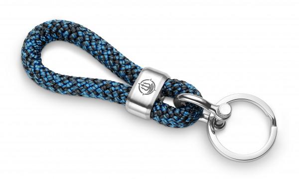 """Schlüsselkette """"Fehmarn"""" 8mm Segeltau schwarz-blau"""