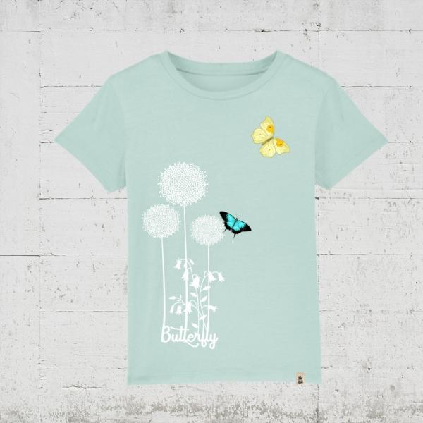 Butterfly Flower   T-Shirt Kids