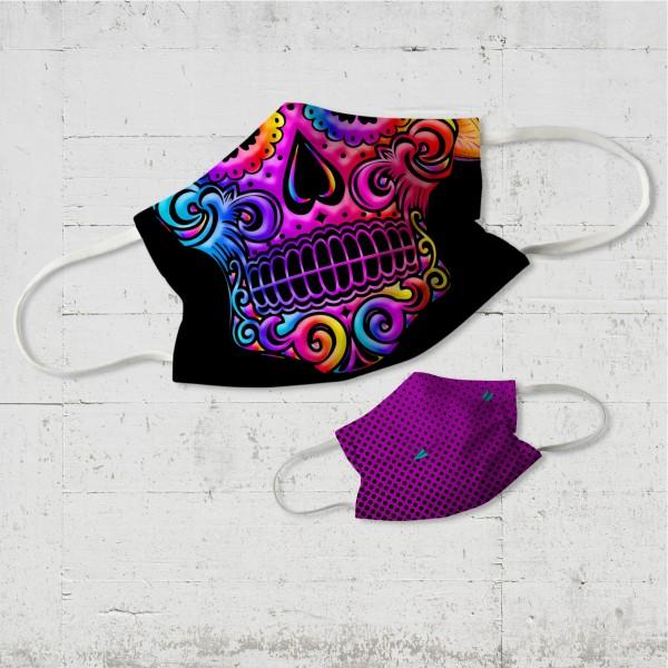 Sugar Skull Wende-Maske organic fairwear vegan