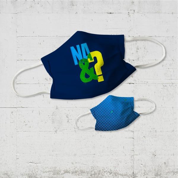 Na&? Kinder Wende-Maske im About Paper-Design organic fairwear vegan