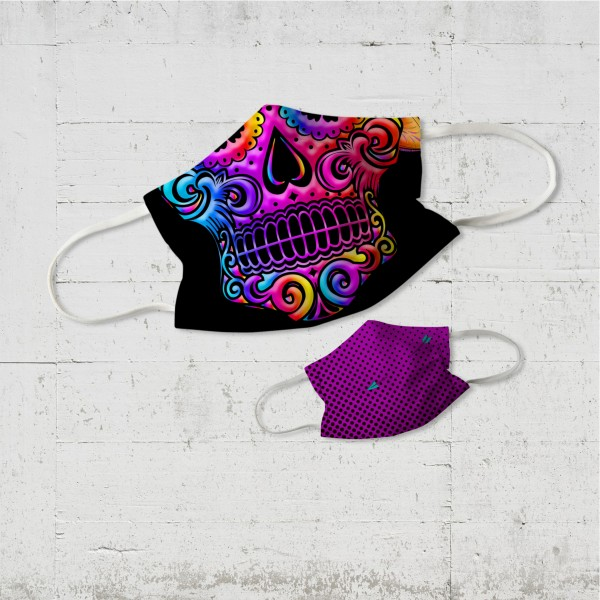 Sugar Skull Kinder Wende-Maske | organic fairwear vegan