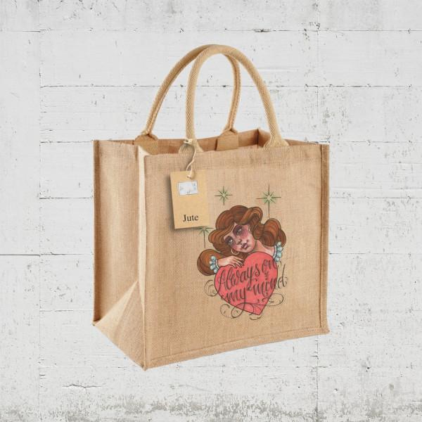 Always on my mind | HLP Artists Jute Bag 30 x 30 x 19