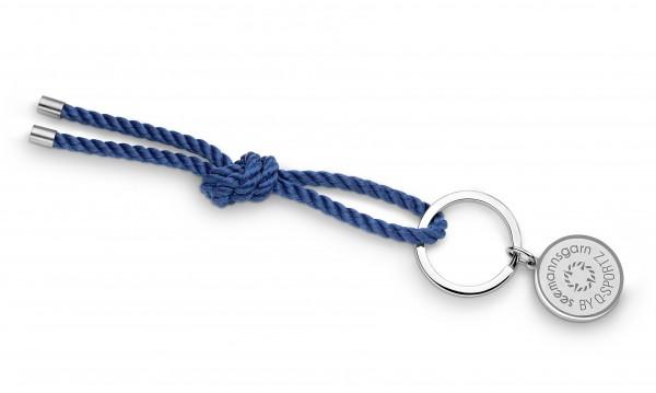 """Schlüsselkette """"Amrum"""" 4mm Segeltau navy-blau"""