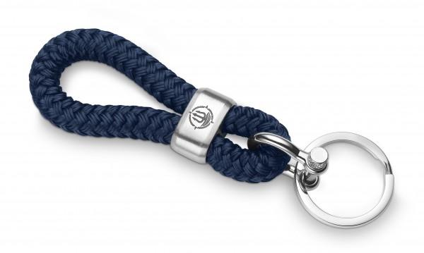 """Schlüsselkette """"Föhr"""" 8mm Segeltau navy-blau"""