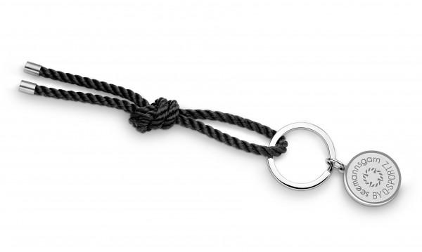 """Schlüsselkette """"Amrum"""" 4mm Segeltau schwarz"""