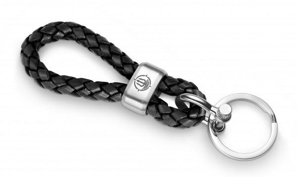 "Schlüsselkette ""Sylt"" 8mm Leder schwarz"